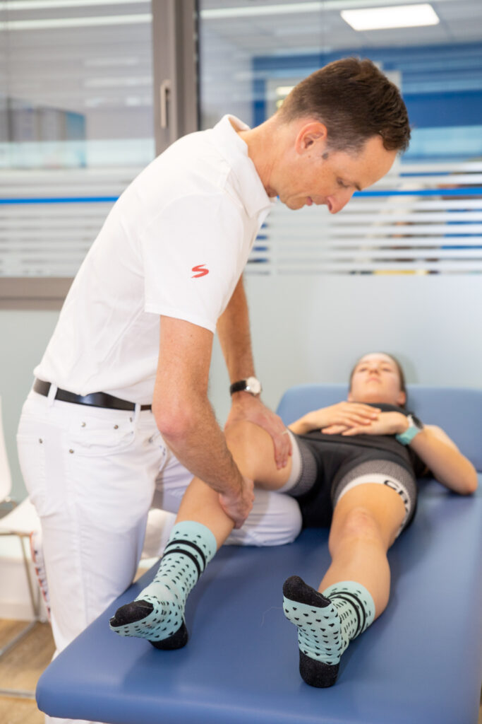 orthopädischen Untersuchung des Bewegungsapparat am Knie